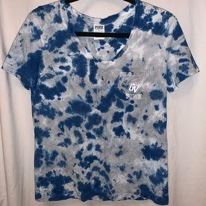 PINK GVSU tie dye V-neck Shirt NWT